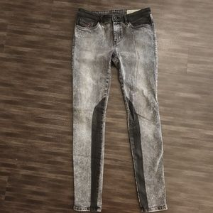 Diesel Jean Gray Black Stretch Skinny pants w 28